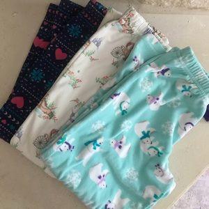 Carter's Girls Fleece Panama Bottoms Bundle Size 6